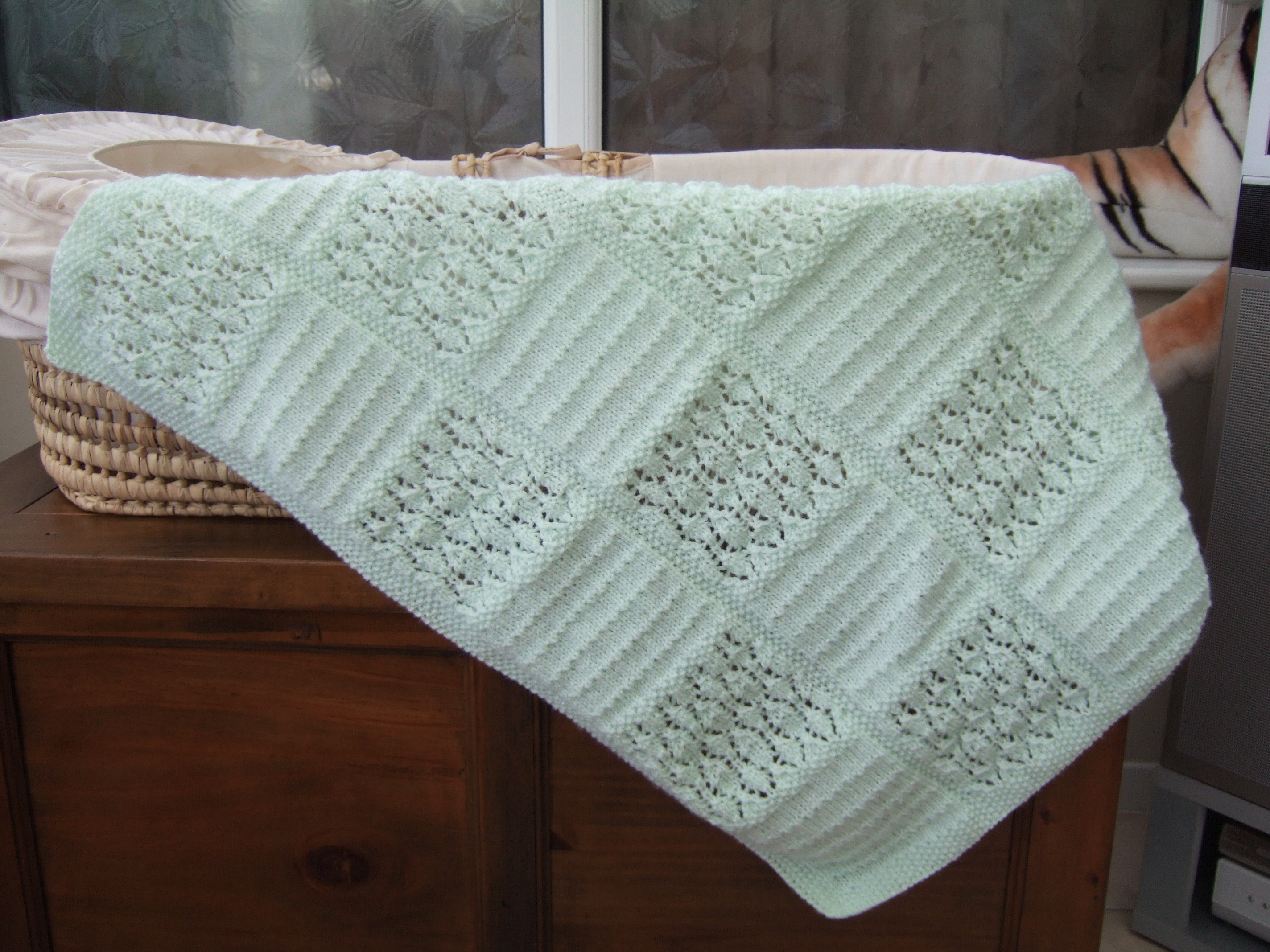 Hand Knitted Baby Blanket (Assorted Colours) Approx 21\