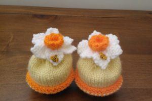 Hand Knitted Daffodil Egg Cosy's