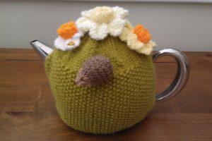 Spring Design Tea Cosey with Hedgehog