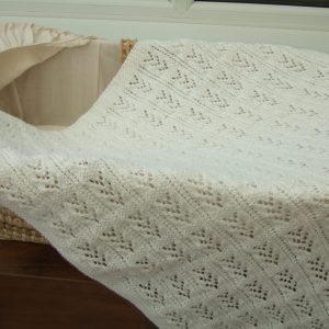 Large Sized Hand Knitted Baby Blanket (Assorted Colours) Approx 30″ x 40″