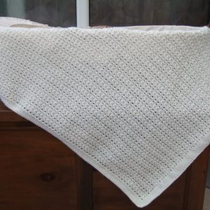 Medium Sized Hand Knitted Baby Blanket (Assorted Colours) Approx 28″ x 34″
